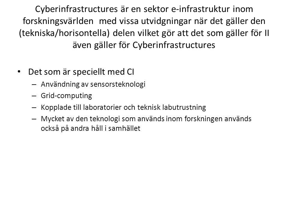 Tekniska och sociala aspekter av e-infrastrukturer