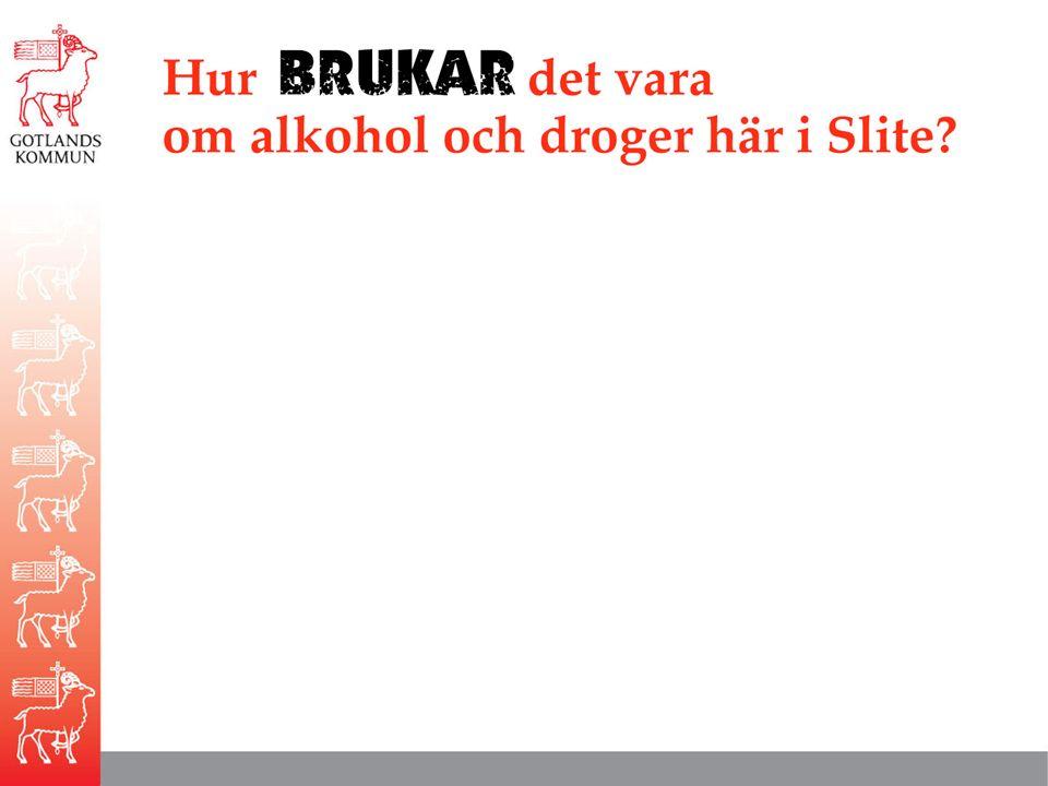 Hur BRUKAR det vara om alkohol och droger här i Slite
