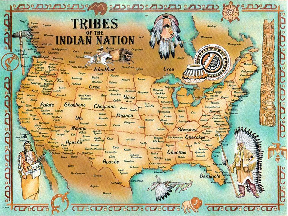 När européerna kom till Nordamerika bebodde hundratals olika indianstammar kontinenten Miljontals indianer kom att dö då européerna började bosätta sig på grund av: Krig Sjukdomar Alkohol