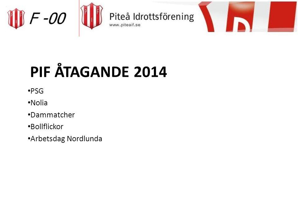 PIF ÅTAGANDE 2014 PSG Nolia Dammatcher Bollflickor Arbetsdag Nordlunda