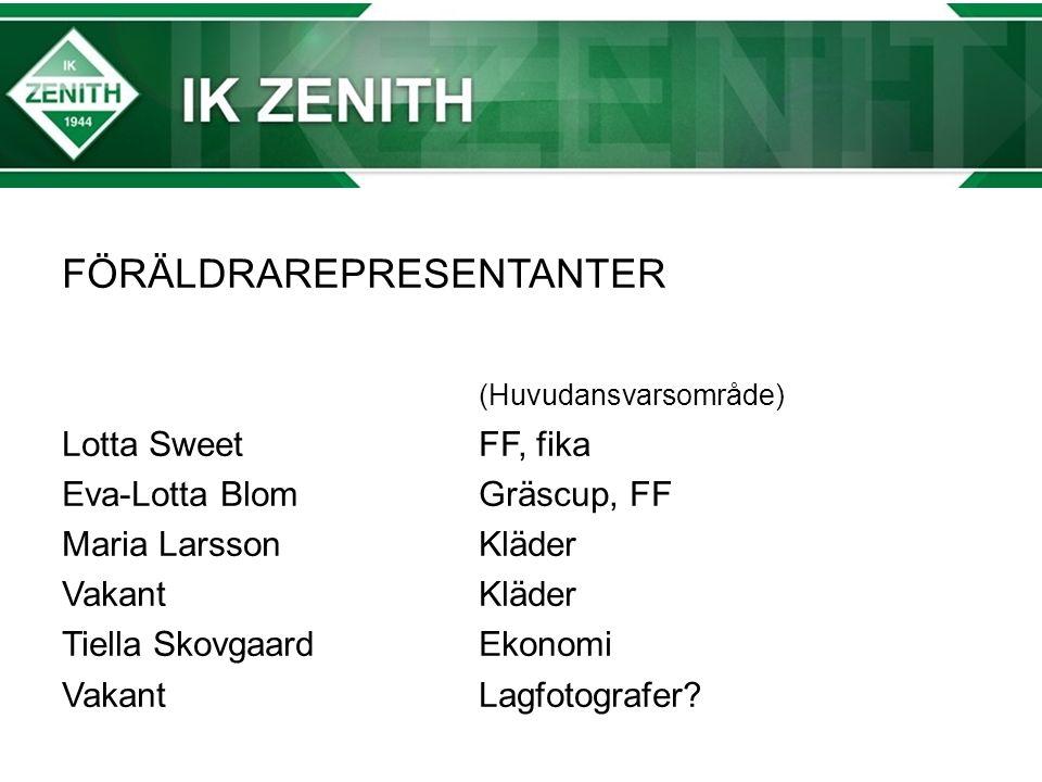 Träningsläger 22-23/4 Övernattning på Zenithgården Aktiviteter Bygga lag (värderingar) Matchspel på lördag Vi behöver hjälp med domare på lördagen!