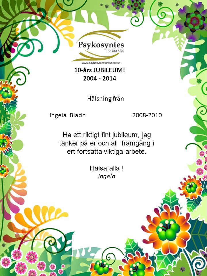 10-års JUBILEUM.