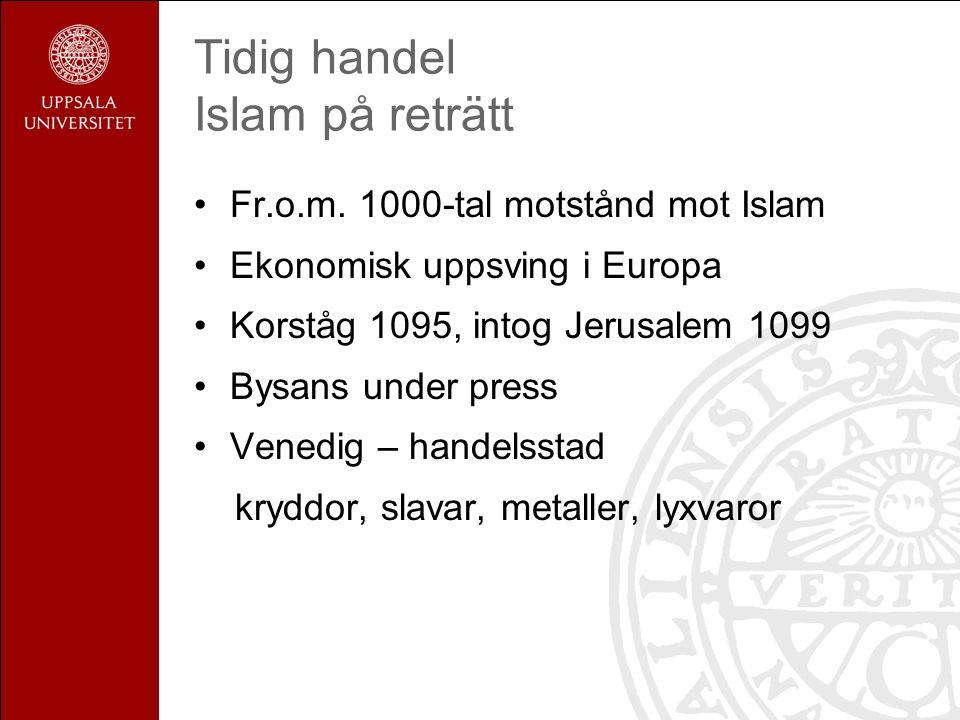 Tidig handel Islam på reträtt Fr.o.m.