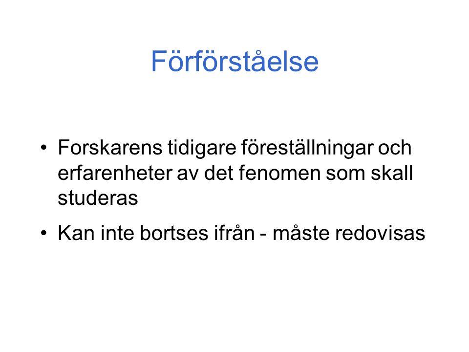 Praktiska spörsmål Ostörd miljö Ev.
