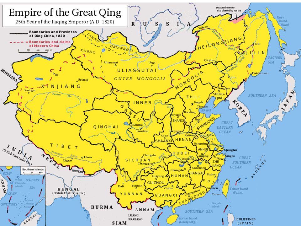 Introduktion till perioden Ming-dynastin kollapsar 1644 då uppror kulminerar i Li Zichengs intåg i Peking Översvämningar och epidemier i tio prov.