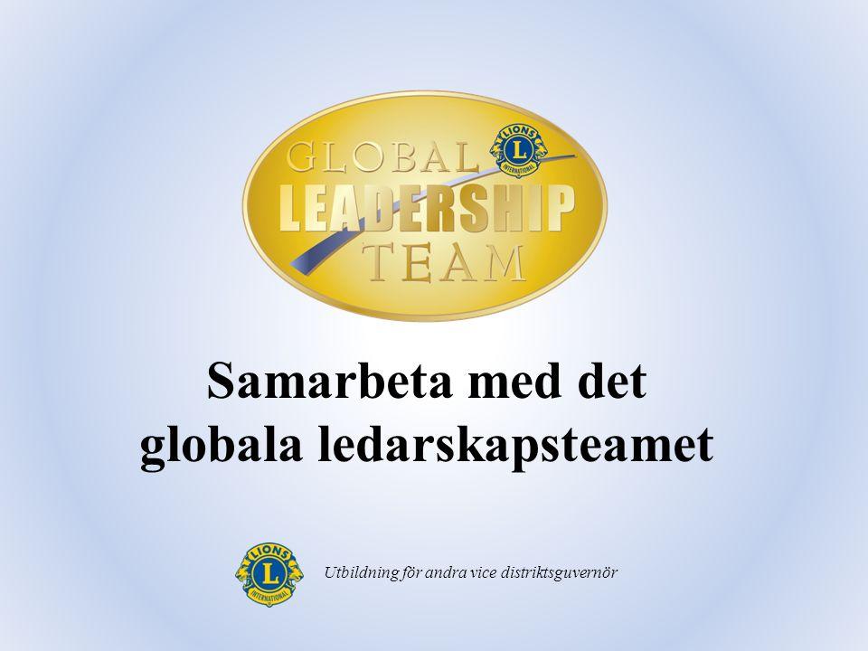 Samarbeta med det globala ledarskapsteamet Utbildning för andra vice distriktsguvernör