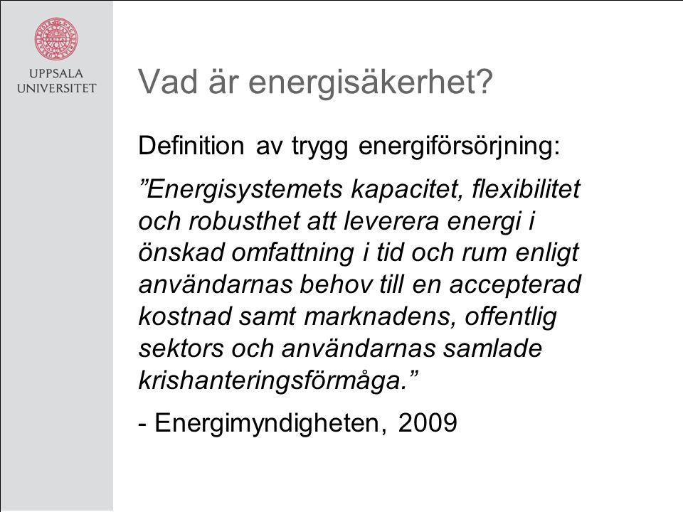 Vad är energisäkerhet.