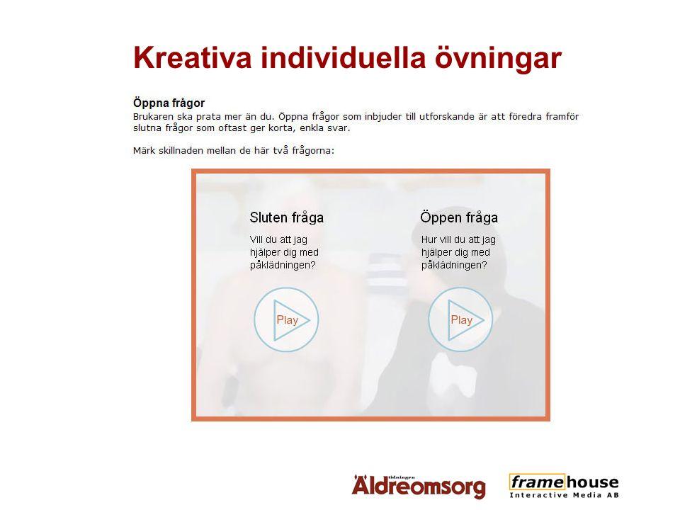 Kreativa individuella övningar