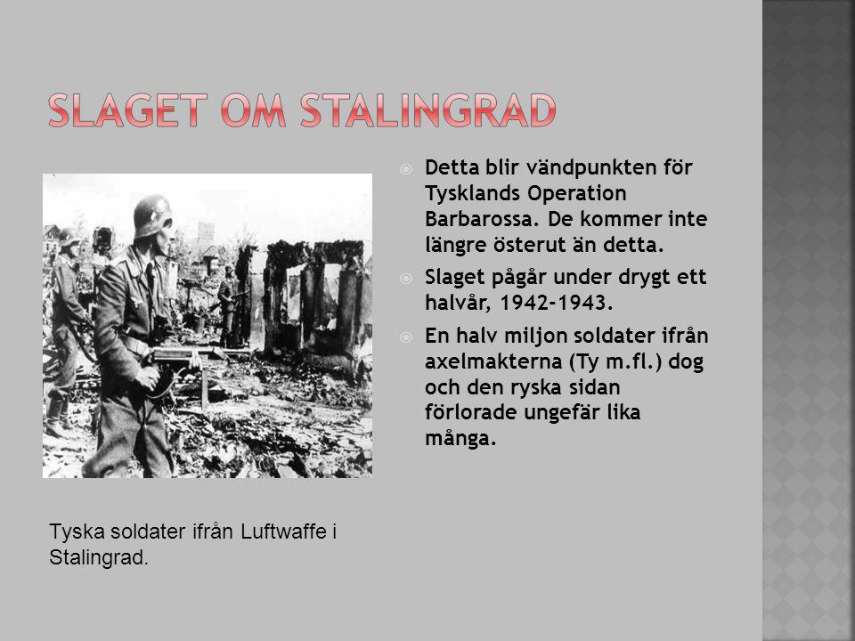  Detta blir vändpunkten för Tysklands Operation Barbarossa.