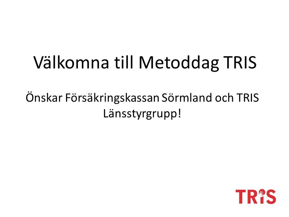 Välkomna till Metoddag TRIS Önskar Försäkringskassan Sörmland och TRIS Länsstyrgrupp!