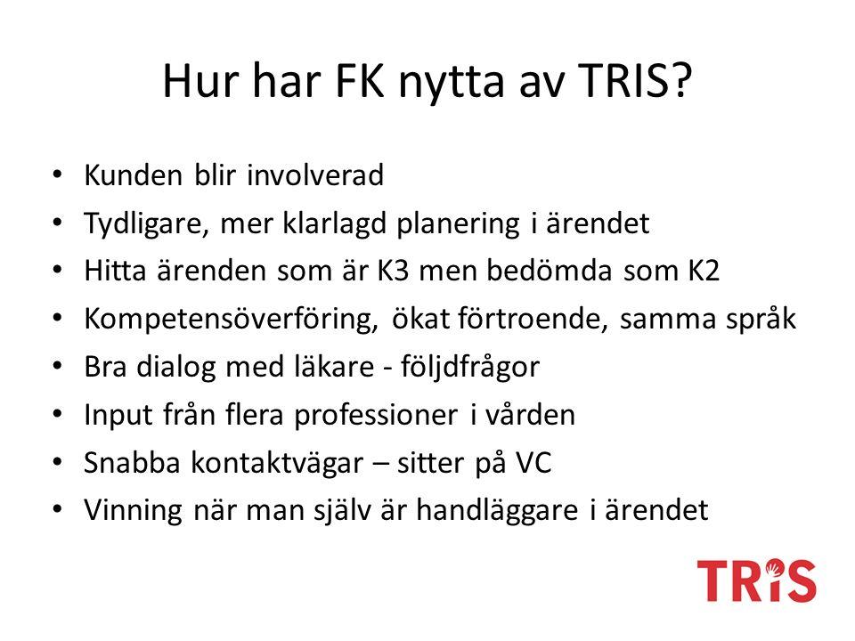 Hur har FK nytta av TRIS.