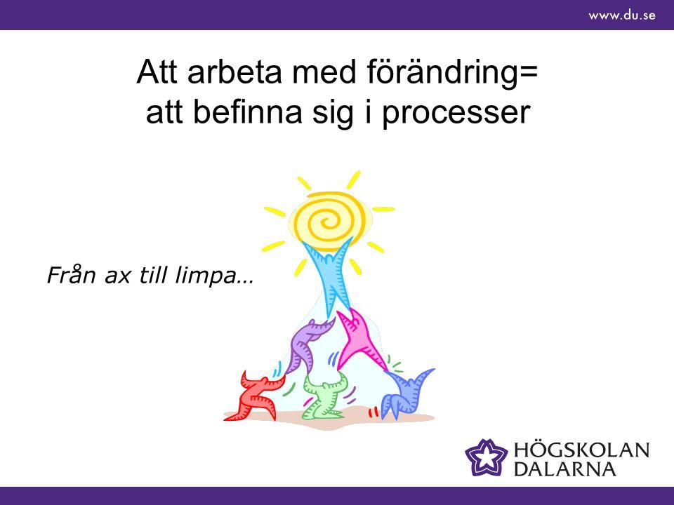 Att arbeta med förändring= att befinna sig i processer Från ax till limpa…