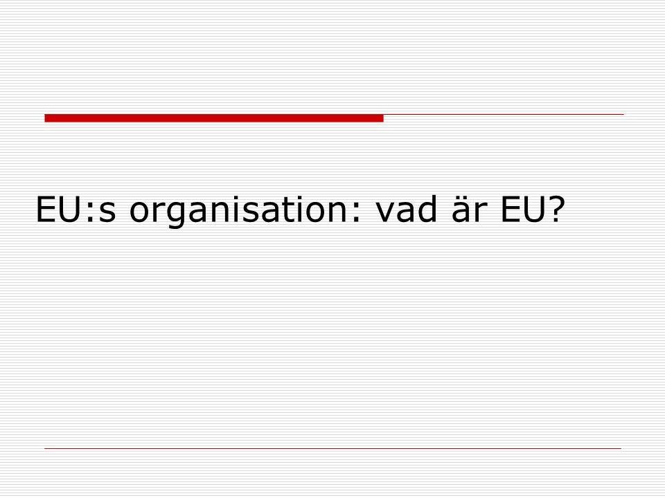 EU:s organisation: vad är EU?