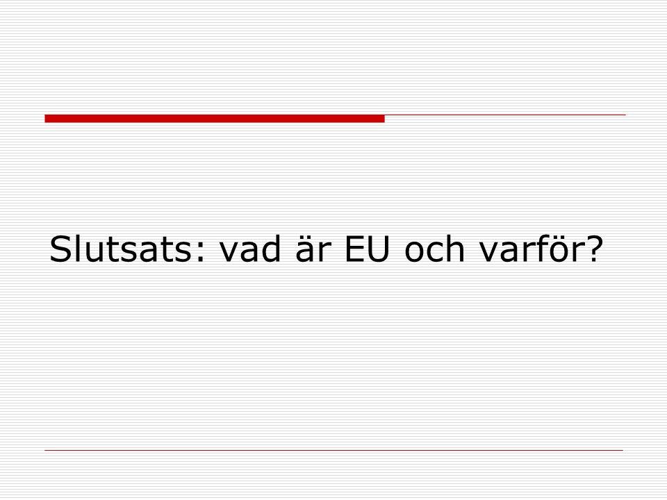 Slutsats: vad är EU och varför?