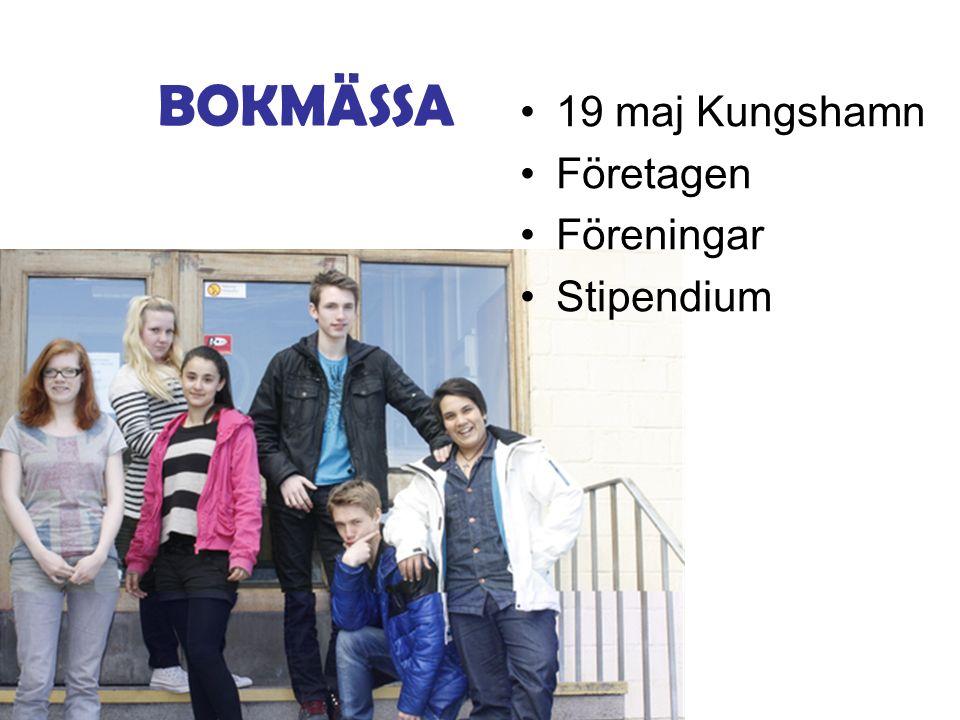 19 maj Kungshamn Företagen Föreningar Stipendium BOKMÄSSA