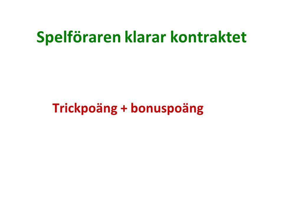 Spelföraren klarar kontraktet Trickpoäng + bonuspoäng