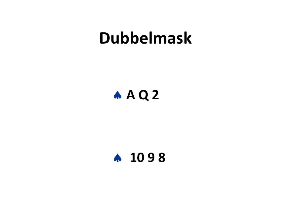 Dubbelmask  A Q 2  10 9 8