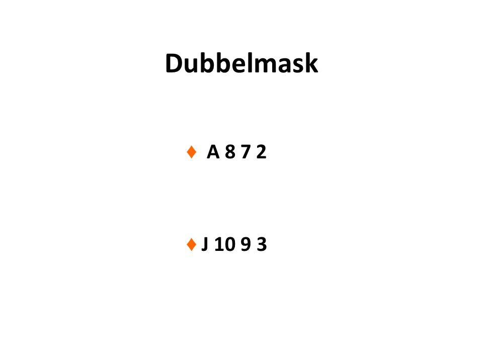 Dubbelmask ♦ A 8 7 2 ♦ J 10 9 3
