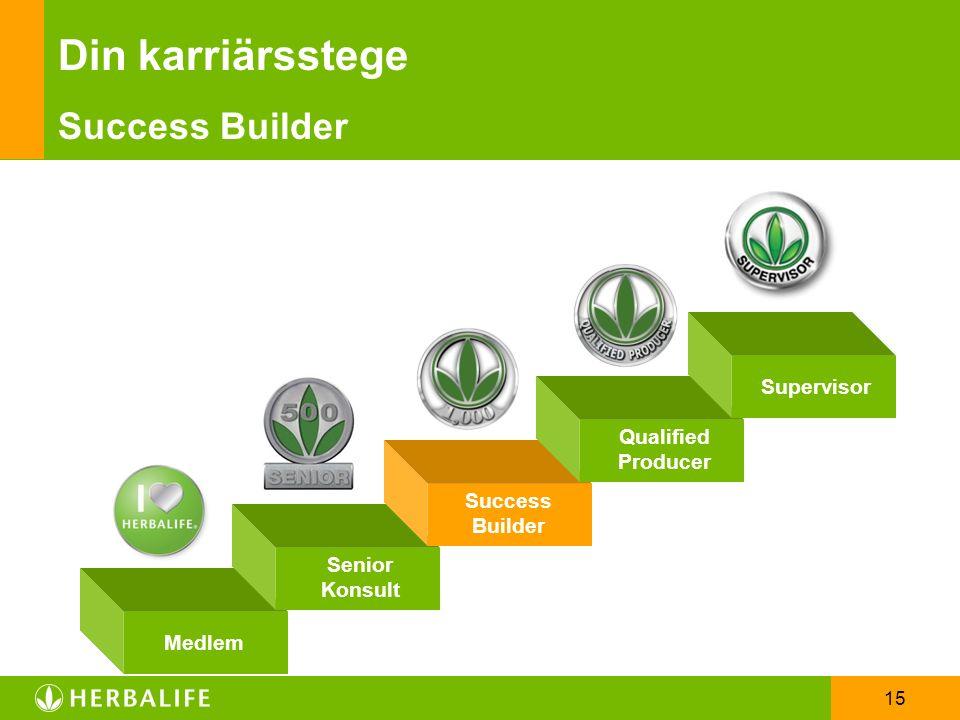 15 Din karriärsstege Success Builder Qualified Producer Supervisor Medlem Senior Konsult