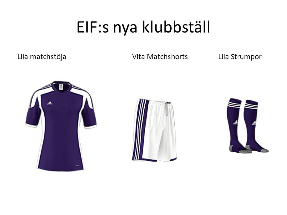 EIF:s nya klubbställ Lila matchstöjaVita MatchshortsLila Strumpor