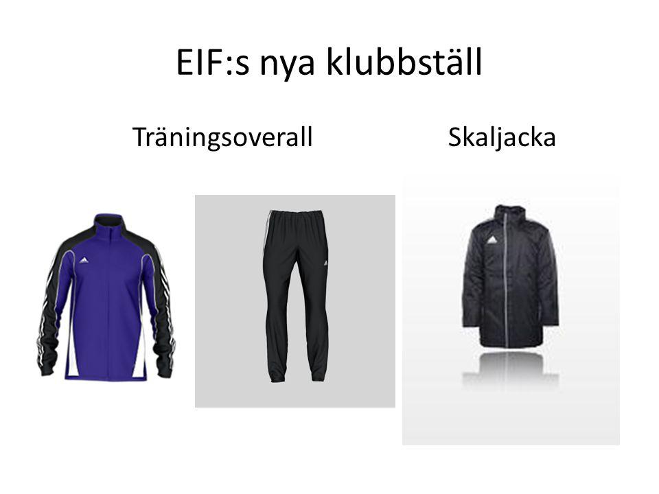 EIF:s nya klubbställ Träningsoverall Skaljacka