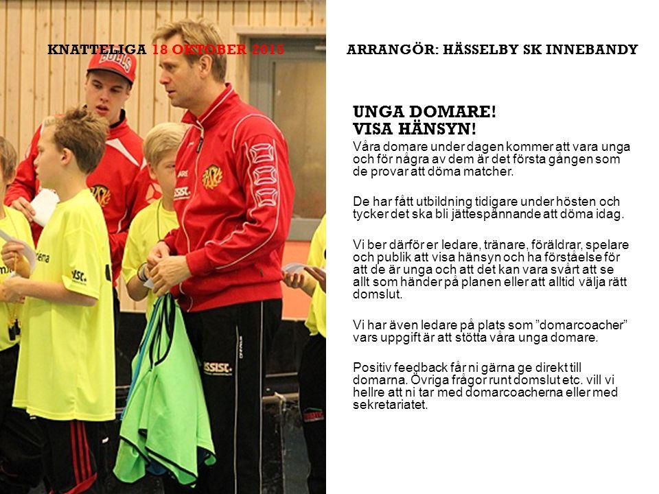 SK INNEBANDY UNGA DOMARE. VISA HÄNSYN.