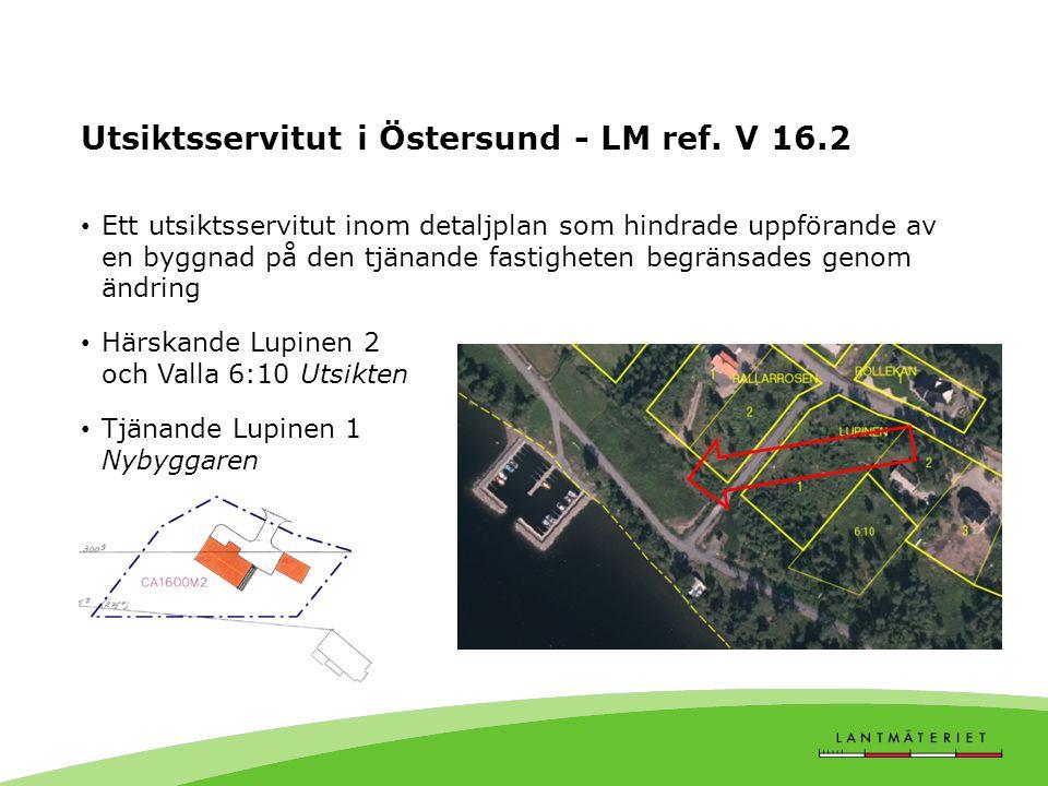 Utsiktsservitut i Östersund - LM ref.