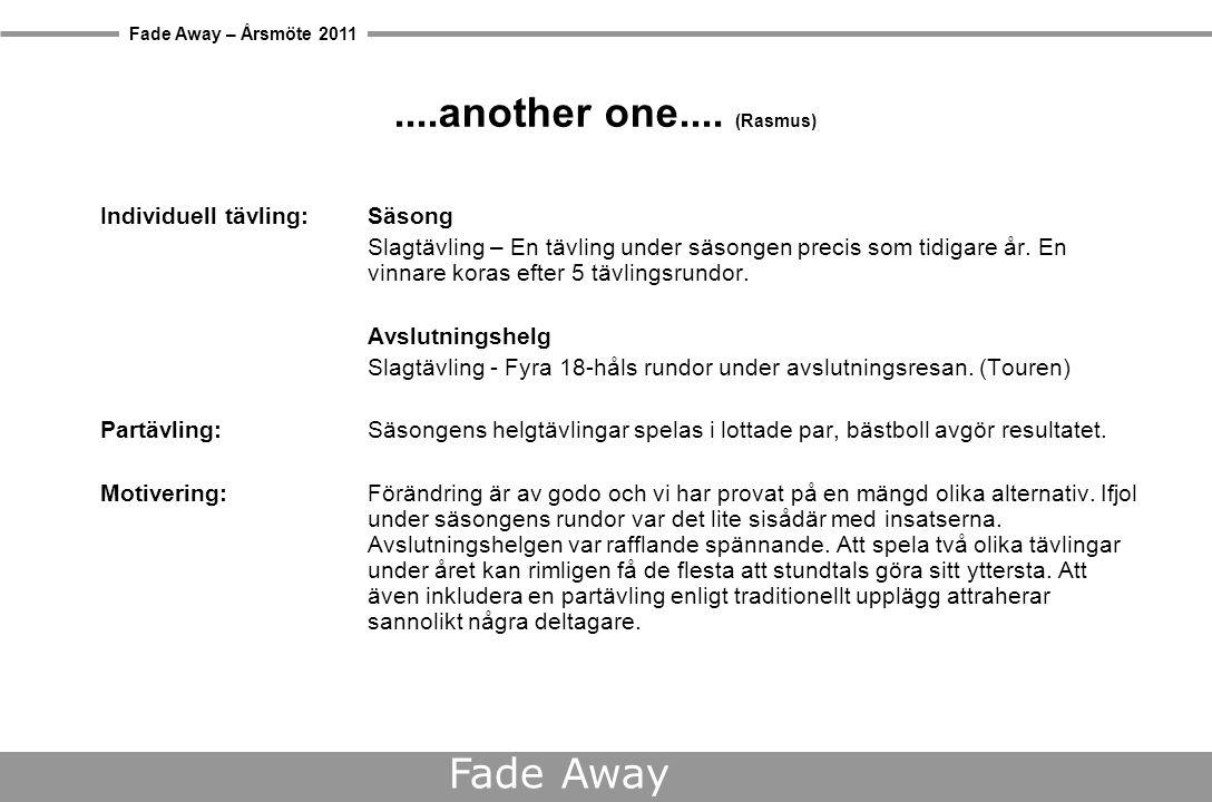 Fade Away – Årsmöte 2011 Fade Away Båstad Pensionat Enehall (Calle)  På Pensionat Enehall i Båstad kan du koppla av med allting ordnat.