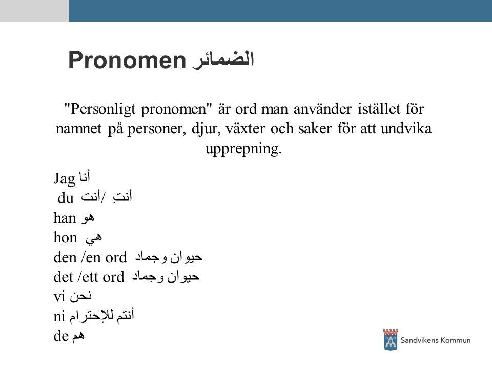 Pronomen الضمائر