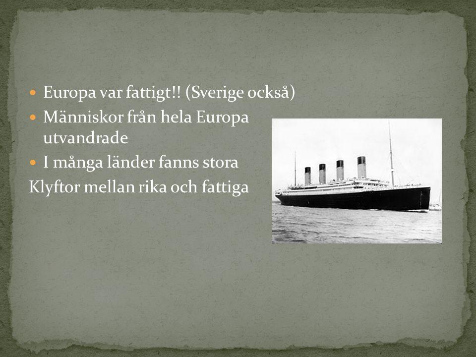 Europa var fattigt!.