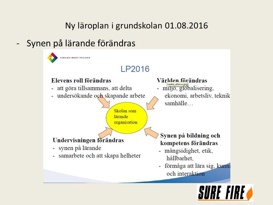Ny läroplan i grundskolan 01.08.2016 -Synen på lärande förändras