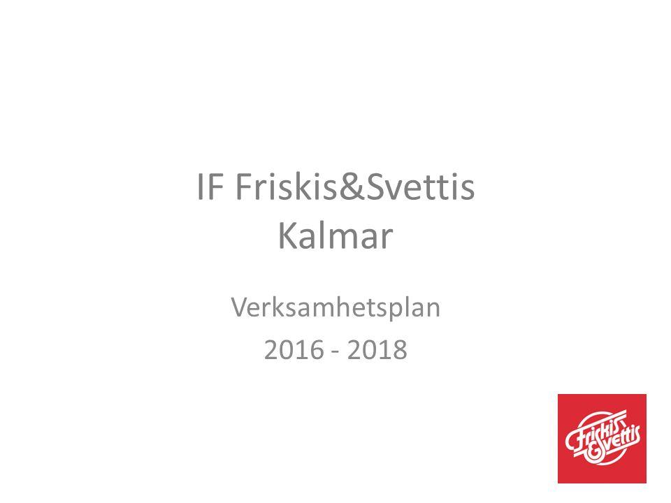 IF Friskis&Svettis Kalmar Verksamhetsplan 2016 - 2018