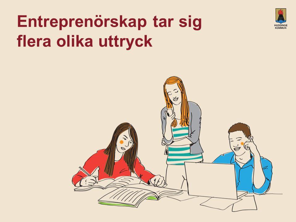 Entreprenörskap tar sig flera olika uttryck