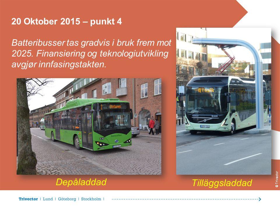 © Trivector 20 Oktober 2015 – punkt 4 Batteribusser tas gradvis i bruk frem mot 2025.