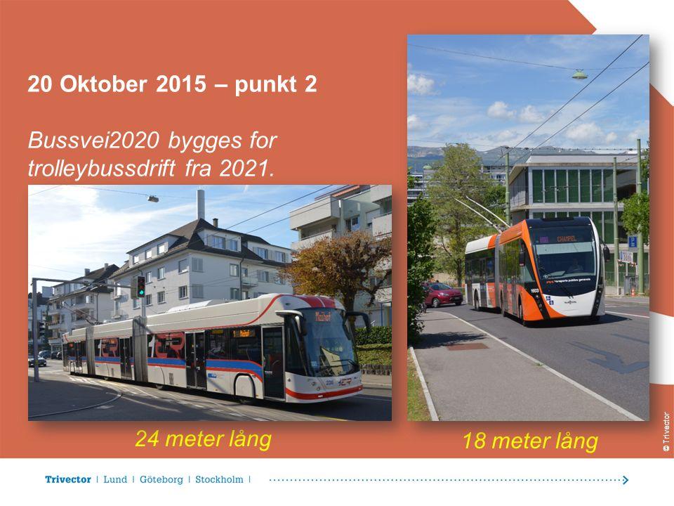 © Trivector 20 Oktober 2015 – punkt 2 Bussvei2020 bygges for trolleybussdrift fra 2021.