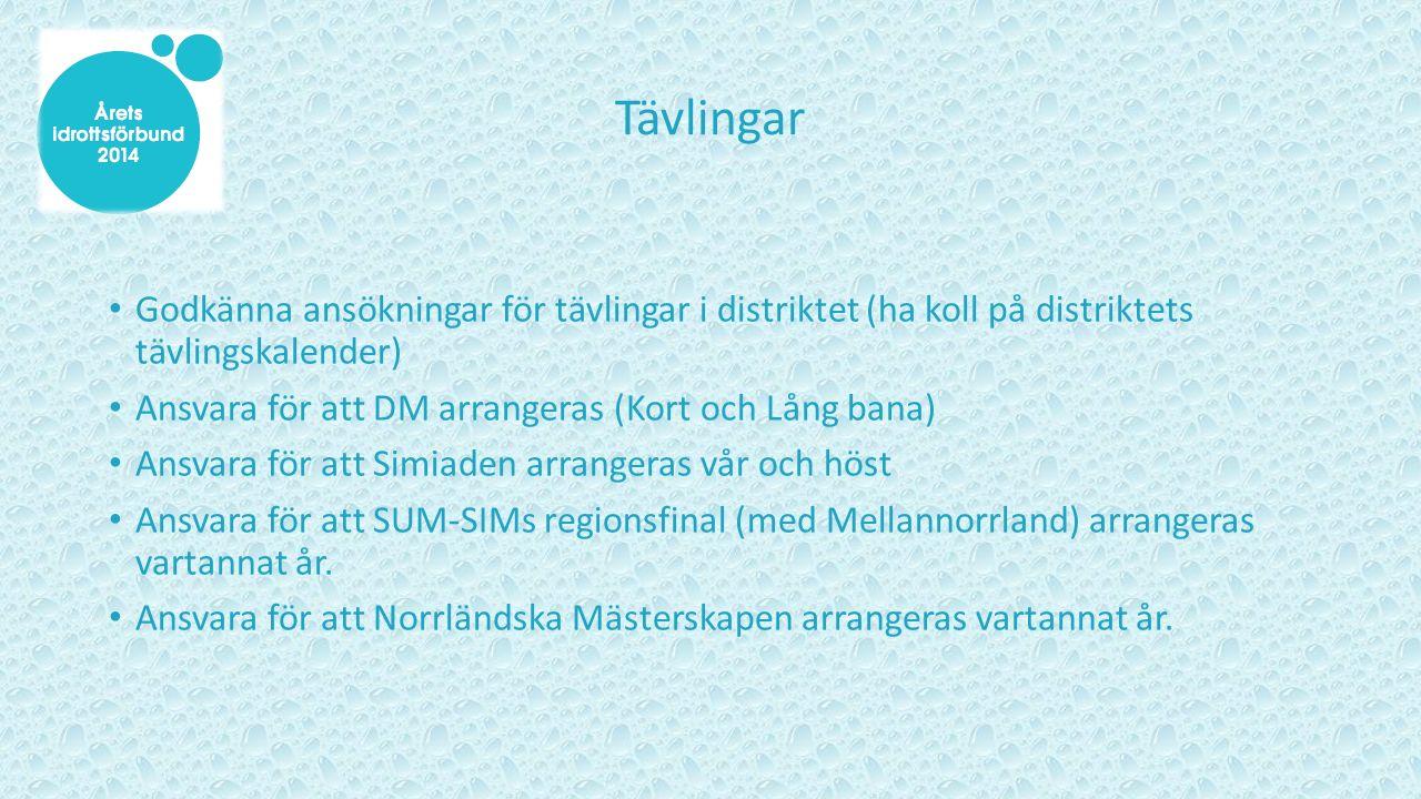 Vad KAN Norrlands Simförbund göra.Arrangera informationsträffar Arrangera gemensamma läger.