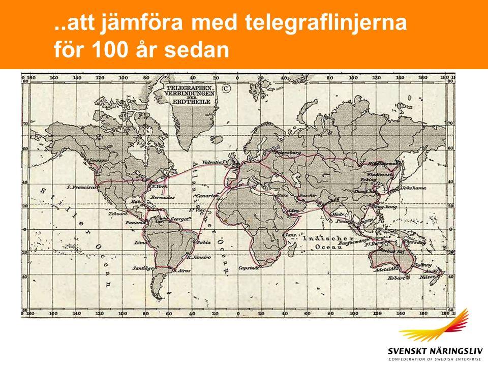 ..att jämföra med telegraflinjerna för 100 år sedan