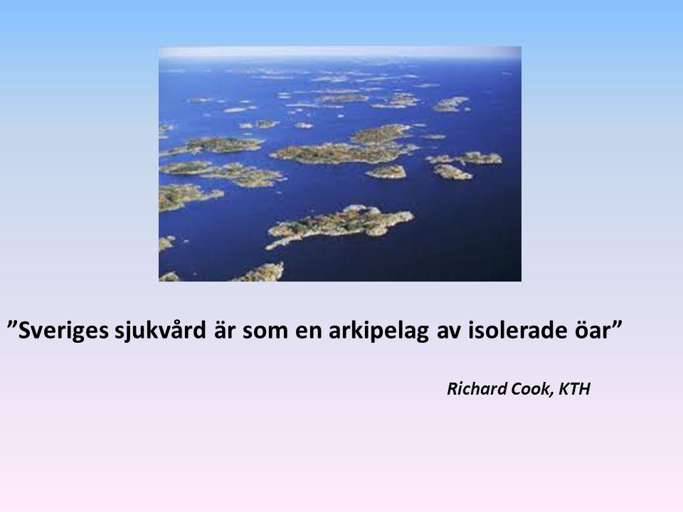 """""""Sveriges sjukvård är som en arkipelag av isolerade öar"""" Richard Cook, KTH"""