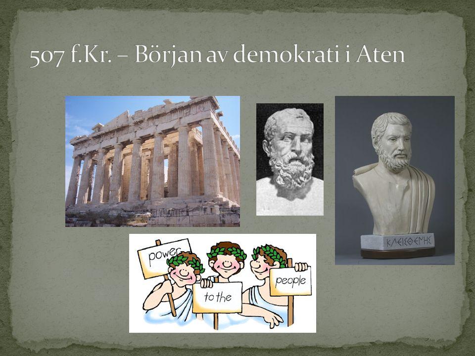 490 f.Kr.Slaget vid Marathon. 480 f.Kr.Nederlag vid Thermopyle och seger vid Salamis.