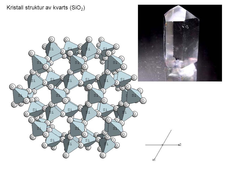 Kristall struktur av kvarts (SiO 2 )