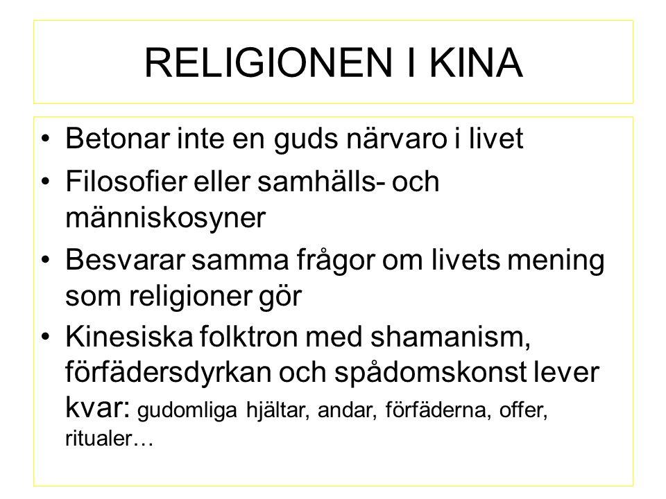SYNKRETISM = Element och drag från olika religioner och kulturer strömmar samman