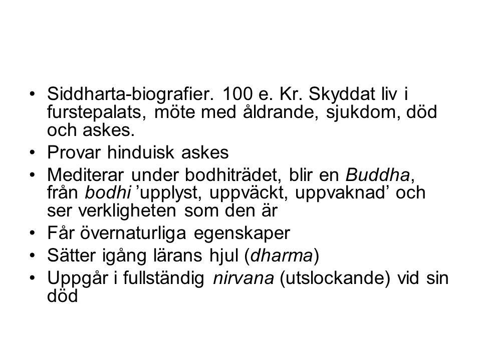 Siddharta-biografier. 100 e. Kr.