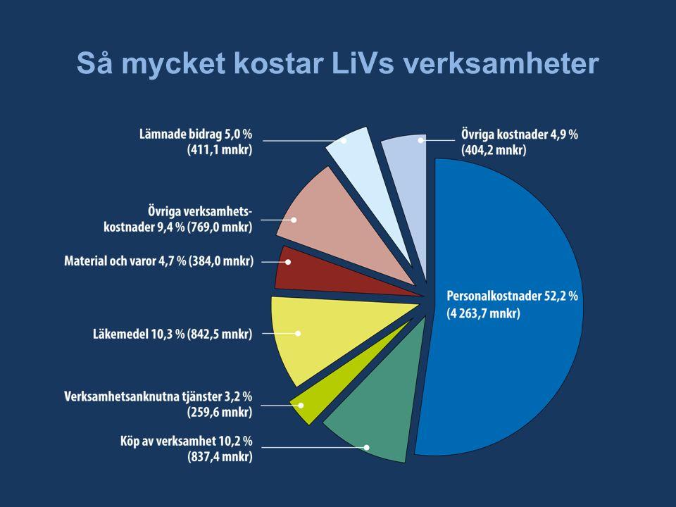 Så mycket kostar LiVs verksamheter