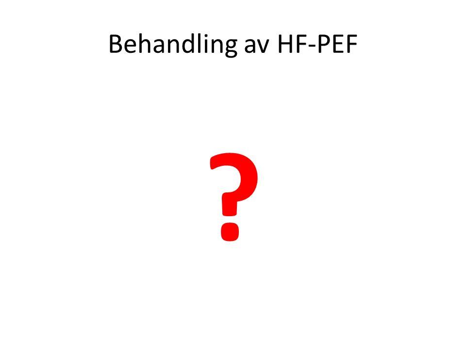 Behandling av HF-PEF