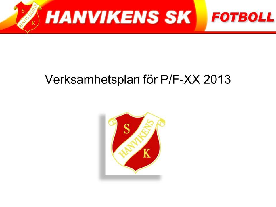 Verksamhetsplan för P/F-XX 2013