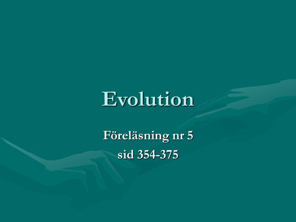 Evolution Föreläsning nr 5 sid 354-375