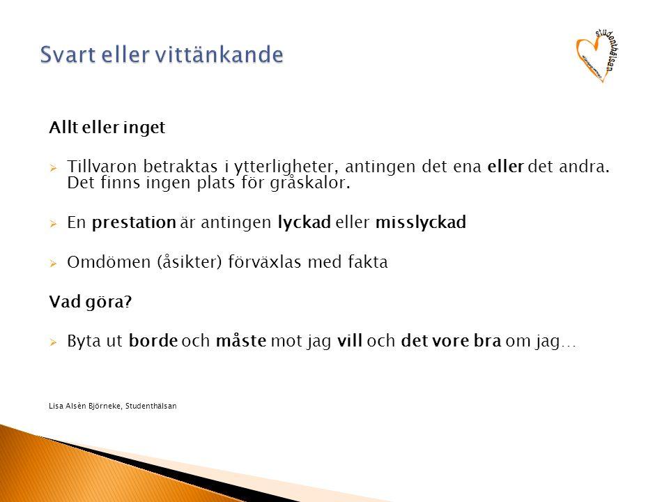 Kost Sömn Motion Fritidsaktivitet Stimulans, Utmaning Socialt Stöd Övrigt Fri-tid Susanne Ghomashi, Studenthälsan