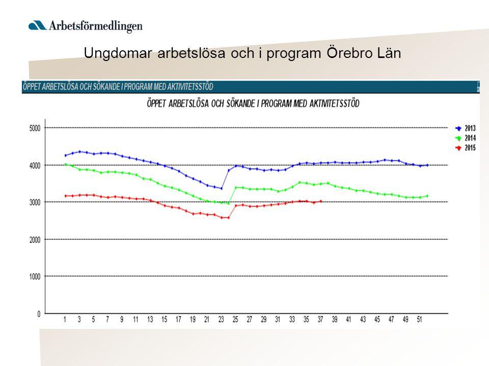 Ungdomar arbetslösa och i program Örebro Län