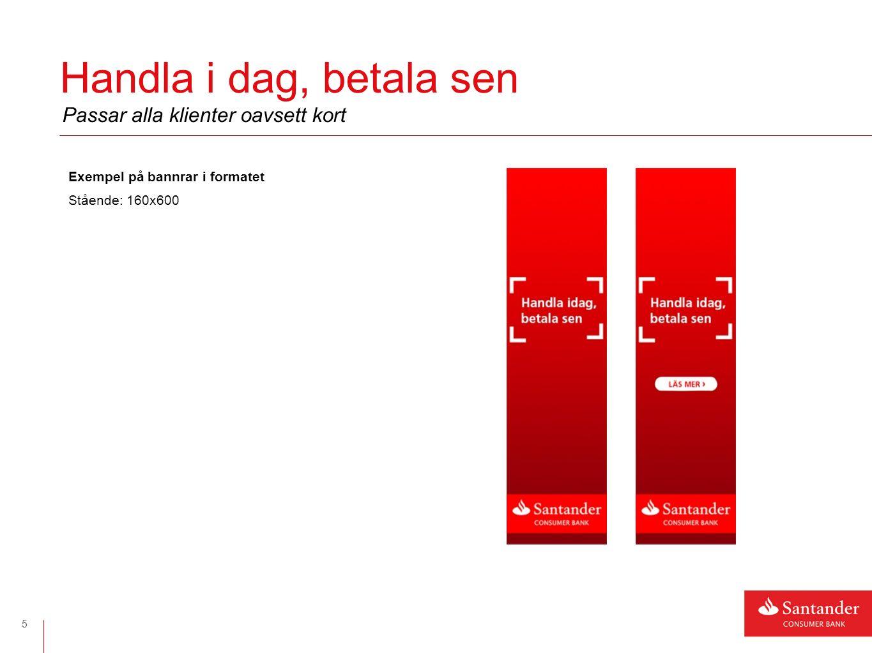 MKTK banner 6 Banner gällande en del av Köpförsäkringen som ingår i kortet Exempel på banner i formatet Liggande: 980x120