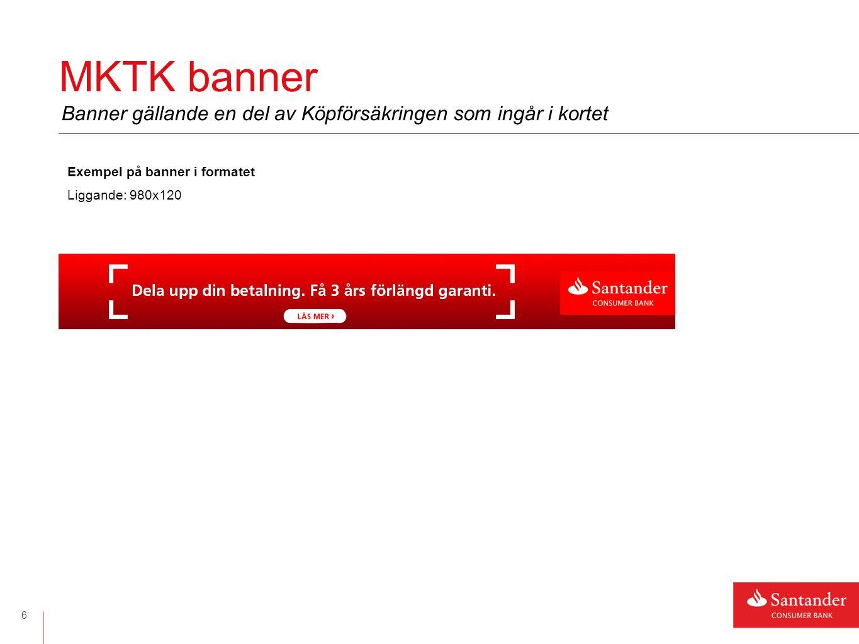 Banner vid kampanj 7 Exempel på banner i formaten Kvadratiskt: 320x320 (BNPL) Anpassat: 709x159 (IFSA) Ska uppdateras med giltighet